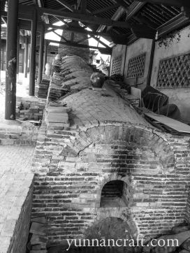 Ancient kiln for zitao pottery