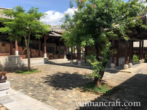 Yard in old renewed Zitao village
